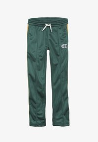 Champion - ROCHESTER VARSITY HALF BUTTON PANT - Tracksuit bottoms - dark green - 3