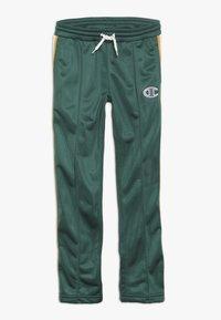Champion - ROCHESTER VARSITY HALF BUTTON PANT - Tracksuit bottoms - dark green - 0