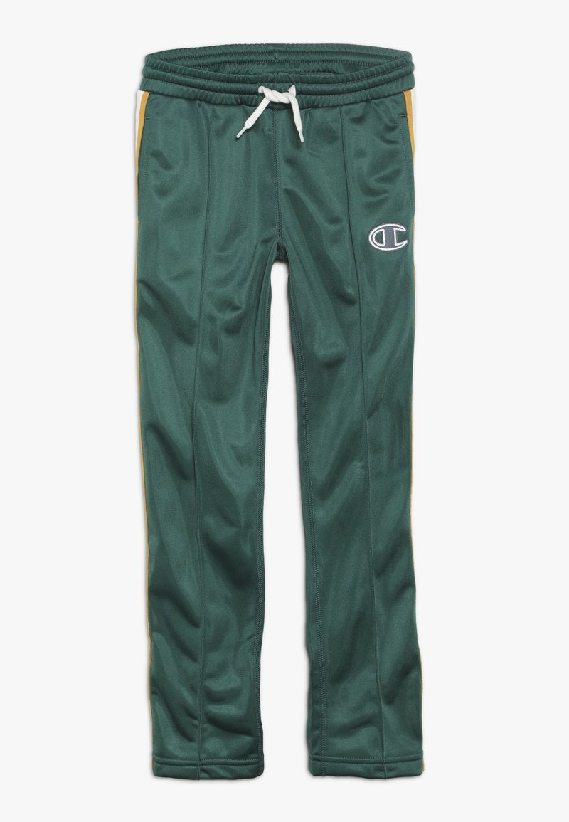 Champion - ROCHESTER VARSITY HALF BUTTON PANT - Tracksuit bottoms - dark green