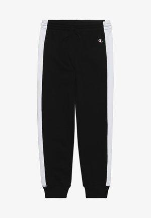 BASIC BLOCK CUFF PANTS - Teplákové kalhoty - black