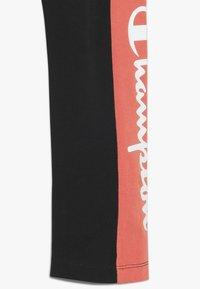 Champion - CHAMPION X ZALANDO COLORBLOCK LOGO  - Legging - black/coral - 2