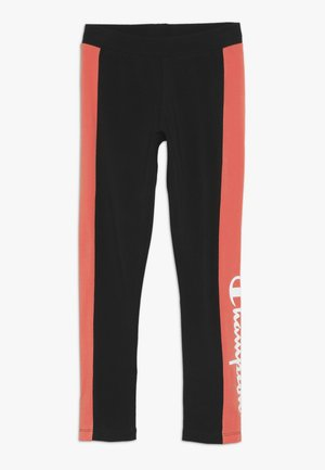 CHAMPION X ZALANDO COLORBLOCK LOGO  - Leggings - black/coral