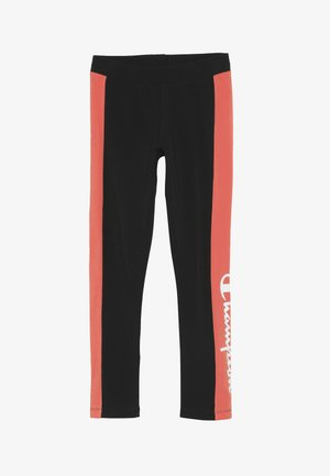 CHAMPION X ZALANDO COLORBLOCK LOGO  - Collants - black/coral