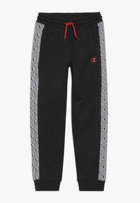 Champion - CHAMPION X ZALANDO PANT - Pantalon de survêtement - black/white - 0