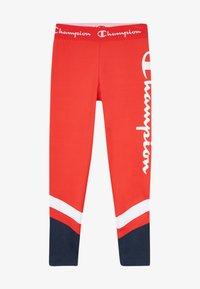 Champion - PERFORMANCE - Leggings - red/dark blue - 2