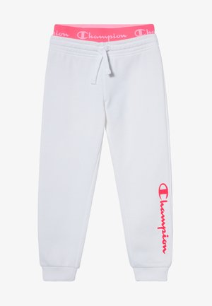LEGACY AMERICAN CLASSICS FLUO RIB CUFF  - Tracksuit bottoms - white