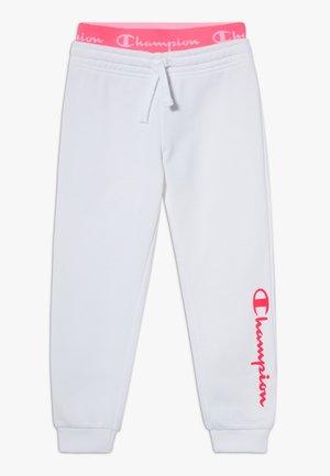 LEGACY AMERICAN CLASSICS FLUO RIB CUFF  - Teplákové kalhoty - white