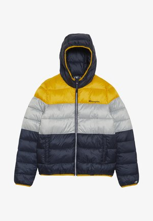 OUTDOOR HOODED JACKET - Giacca invernale - yellow/dark blue