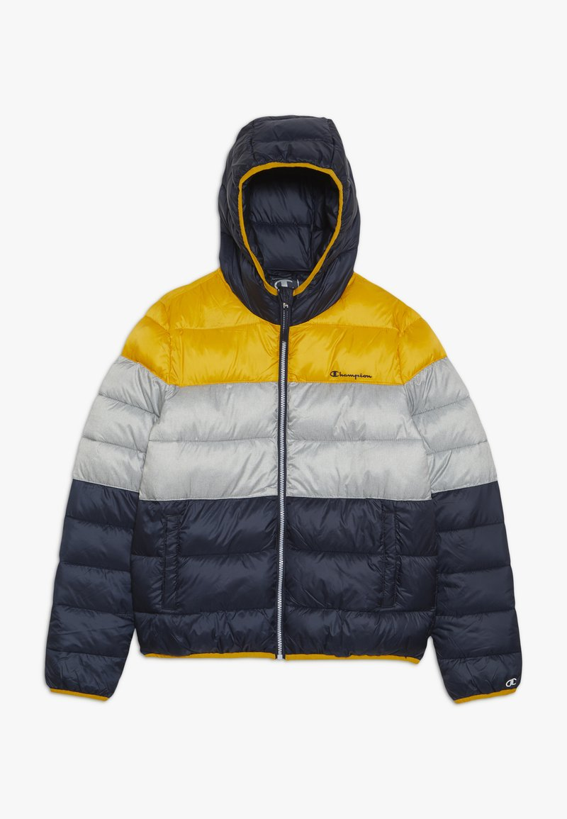 Champion - OUTDOOR HOODED JACKET - Kurtka zimowa - yellow/dark blue