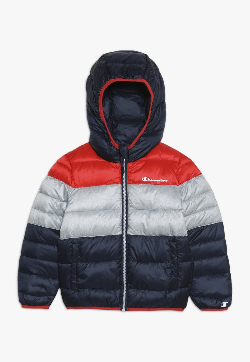 Champion - OUTDOOR HOODED JACKET - Kurtka zimowa - red/dark blue