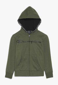 Champion - AMERICAN CLASSICS HOODED FULL ZIP - Mikina na zip - khaki - 0