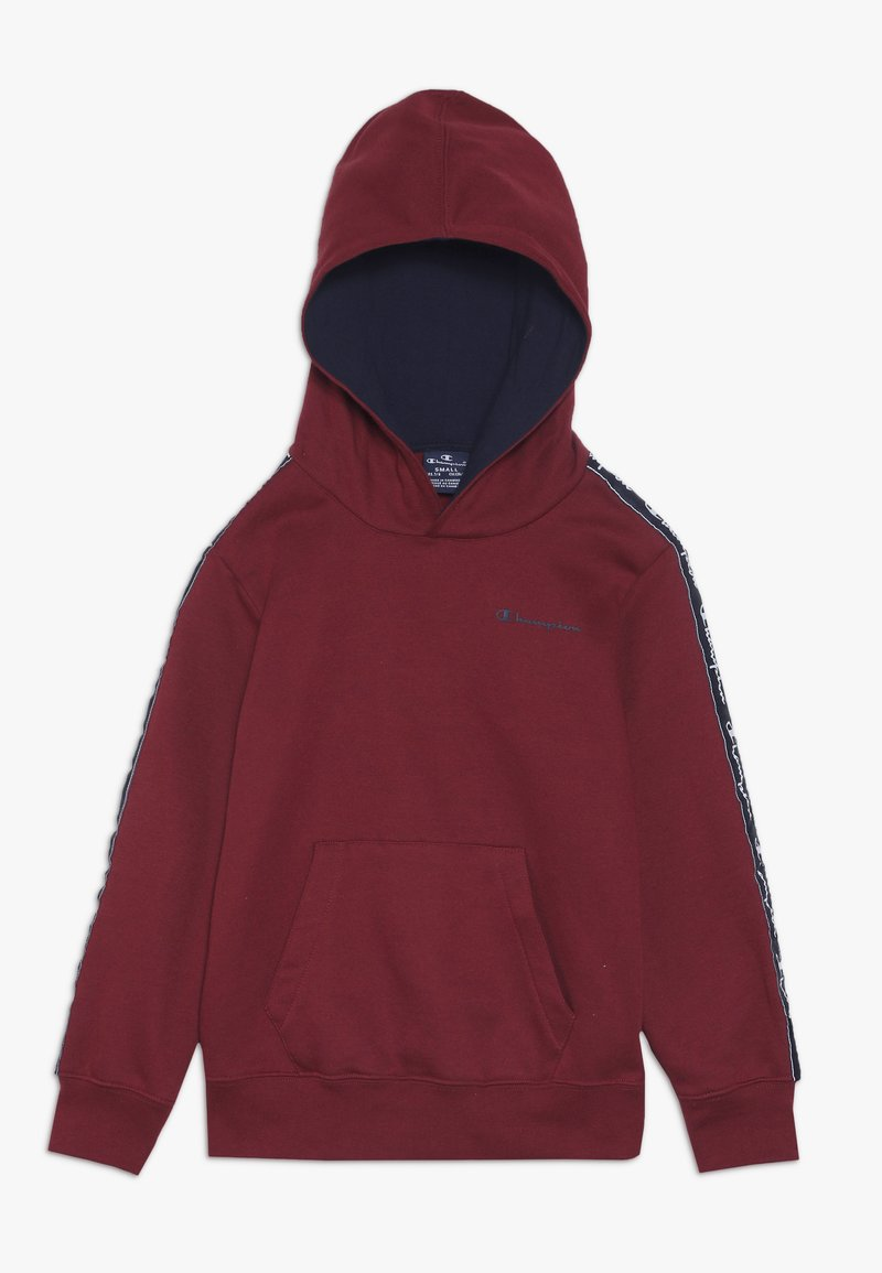 Champion - AMERICAN CLASSICS PIPING HOODED  - Bluza z kapturem - red/navy