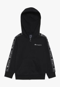 Champion - AMERICAN CLASSICS PIPING HOODED FULL ZIP - Huvtröja med dragkedja - black - 0
