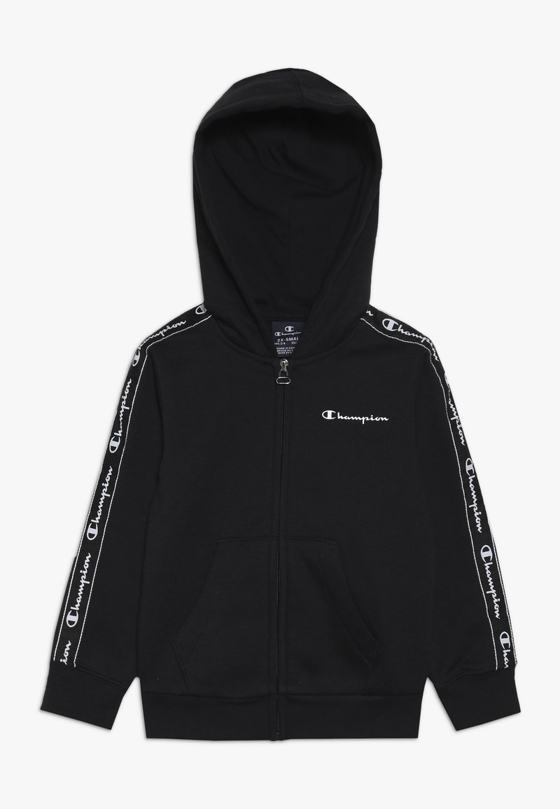 Champion - AMERICAN CLASSICS PIPING HOODED FULL ZIP - Zip-up hoodie - black