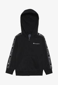 Champion - AMERICAN CLASSICS PIPING HOODED FULL ZIP - Huvtröja med dragkedja - black - 3