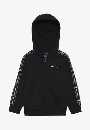 AMERICAN CLASSICS PIPING HOODED FULL ZIP - Sweatjakke /Træningstrøjer - black