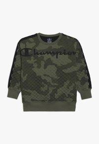 Champion - AMERICAN CLASSICS MAXI LOGO CREWNECK - Sweatshirt - multi-coloured/khaki - 0