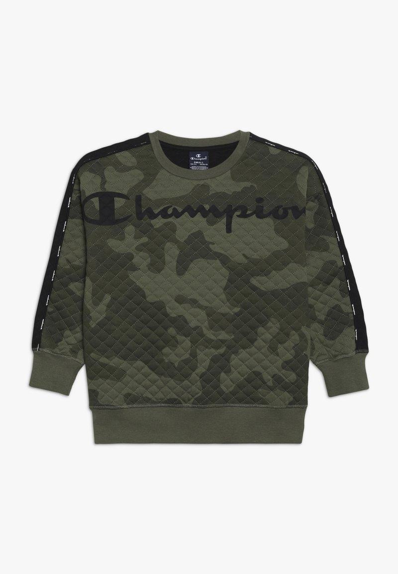 Champion - AMERICAN CLASSICS MAXI LOGO CREWNECK - Mikina - multi-coloured/khaki