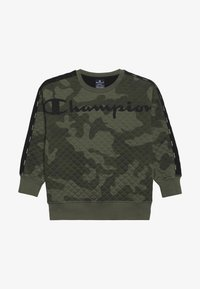 Champion - AMERICAN CLASSICS MAXI LOGO CREWNECK - Sweatshirt - multi-coloured/khaki - 3