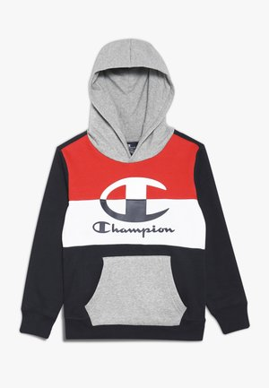 COLOR HOODED  - Hoodie - dark blue/red