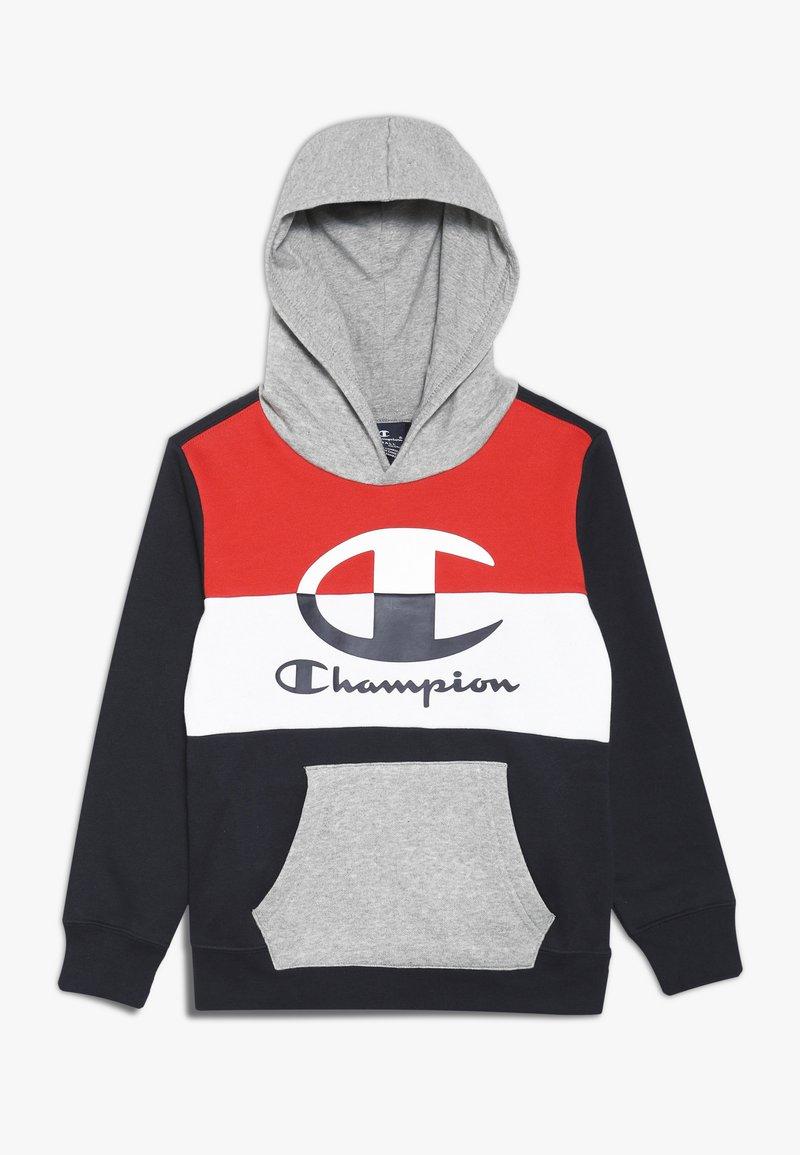 Champion - COLOR HOODED  - Hoodie - dark blue/red