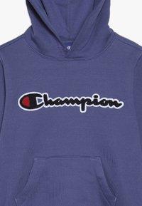 Champion - ROCHESTER LOGO HOODED - Felpa con cappuccio - blue - 4