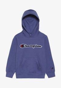 Champion - ROCHESTER LOGO HOODED - Felpa con cappuccio - blue - 3