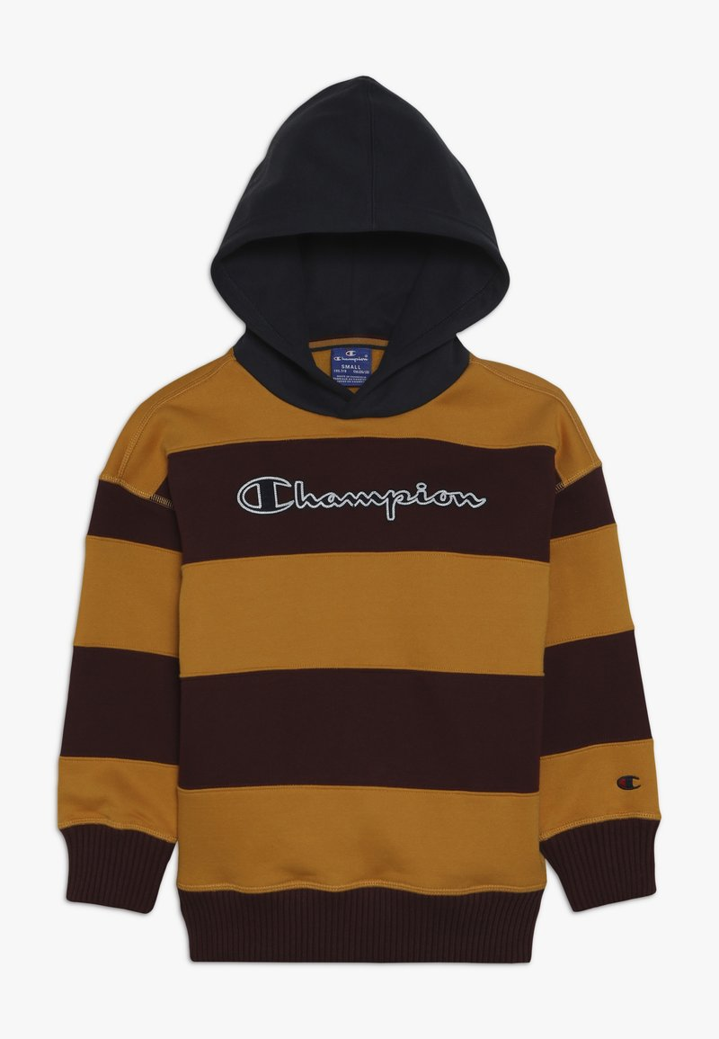Champion - ROCHESTER VARSITY HOODED - Jersey con capucha - yellow/bordeaux