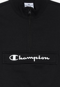 Champion - BASIC BLOCK HALF ZIP - Bluza - black - 3