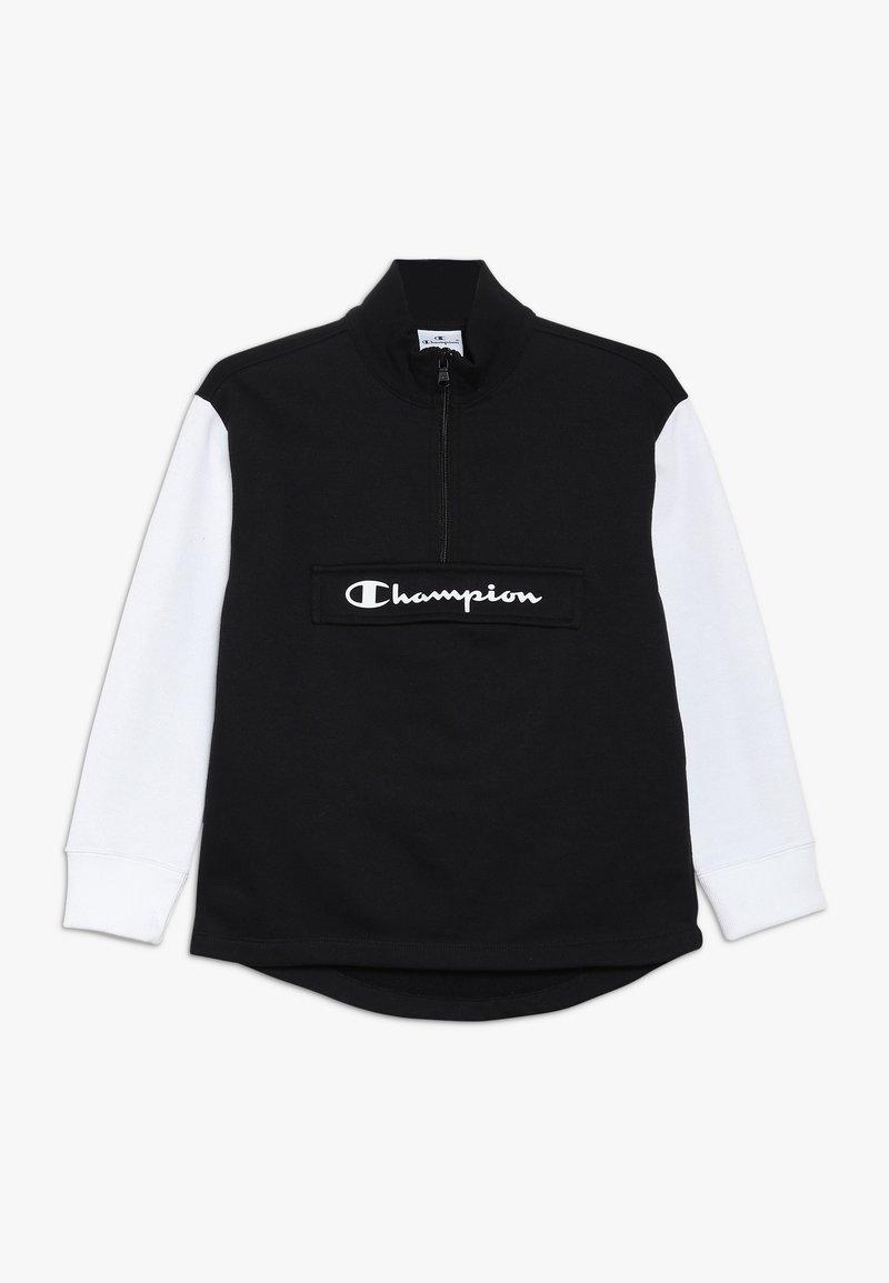 Champion - BASIC BLOCK HALF ZIP - Collegepaita - black