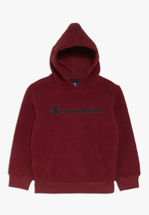 OUTDOOR POLAR HOODED - Hoodie - bordeaux