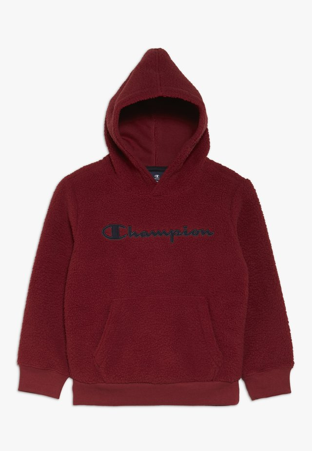 OUTDOOR POLAR HOODED - Kapuzenpullover - bordeaux
