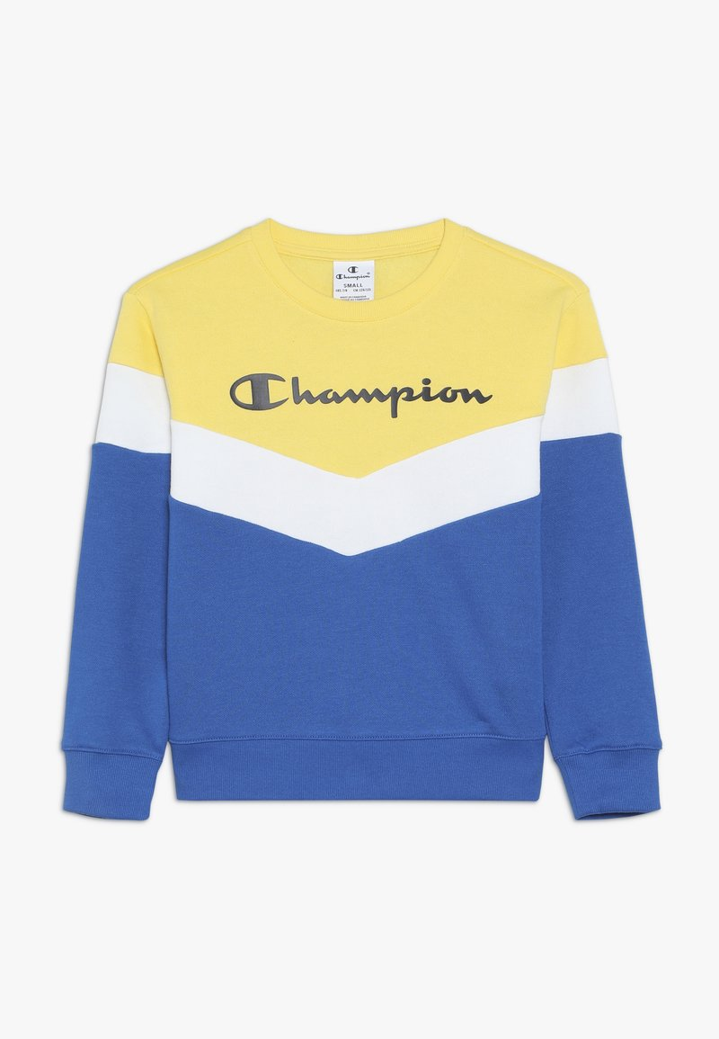 Champion - CHAMPION X ZALANDO COLORBLOCK CREWNECK  - Sweatshirt - blue/yellow/white
