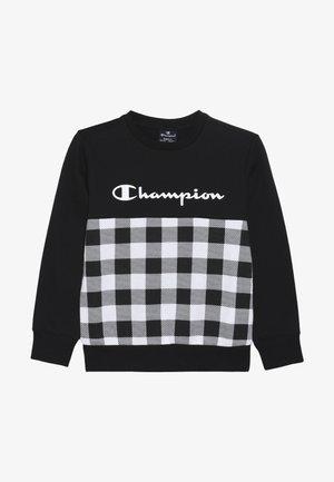CHAMPION X ZALANDO CREWNECK - Collegepaita - black/white