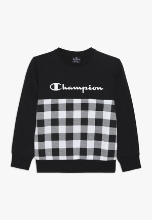 CHAMPION X ZALANDO CREWNECK - Sweatshirt - black/white