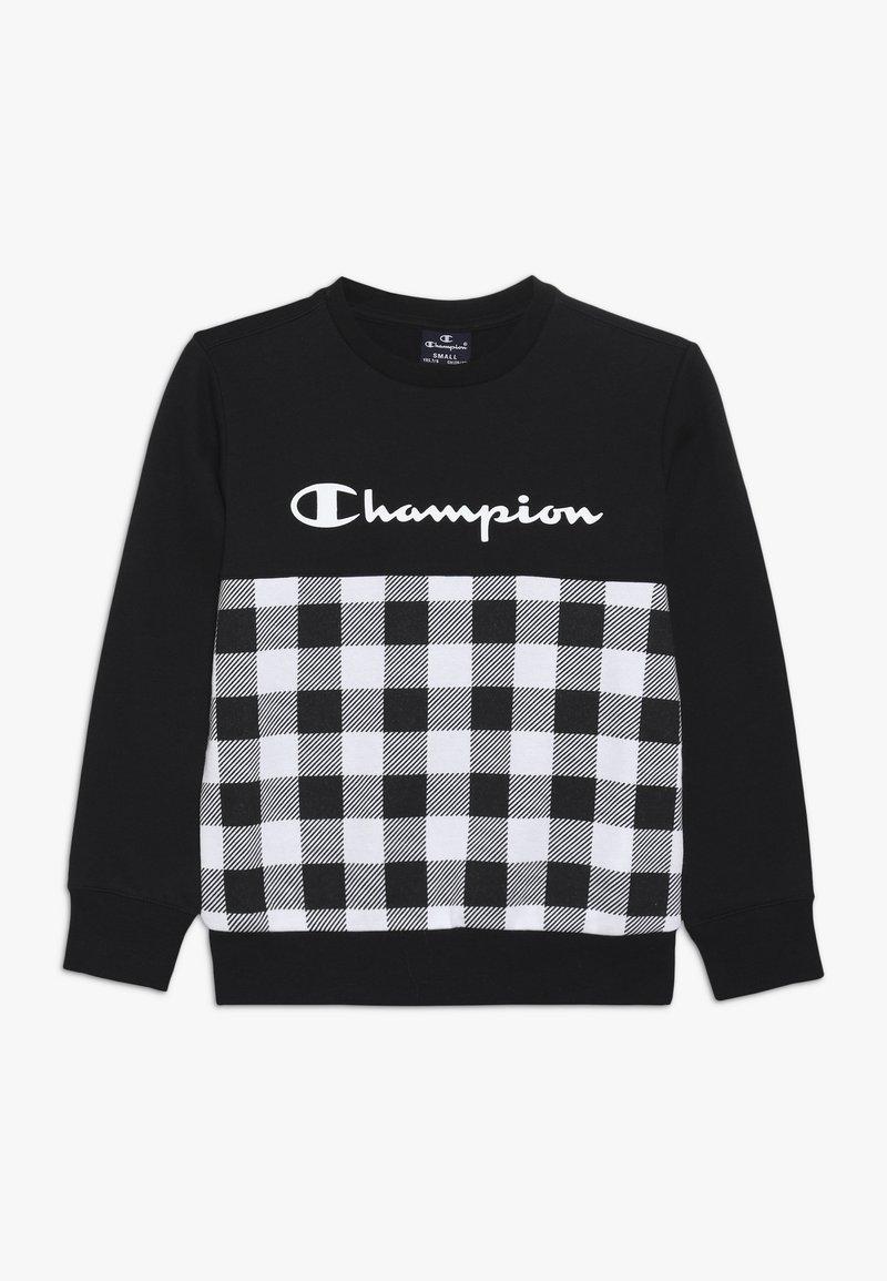 Champion - CHAMPION X ZALANDO CREWNECK - Sweatshirt - black/white