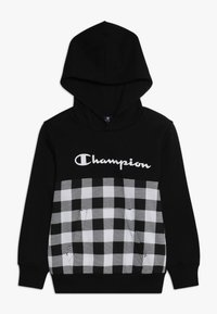 Champion - CHAMPION X ZALANDO HOODED - Luvtröja - new black/wihte - 0