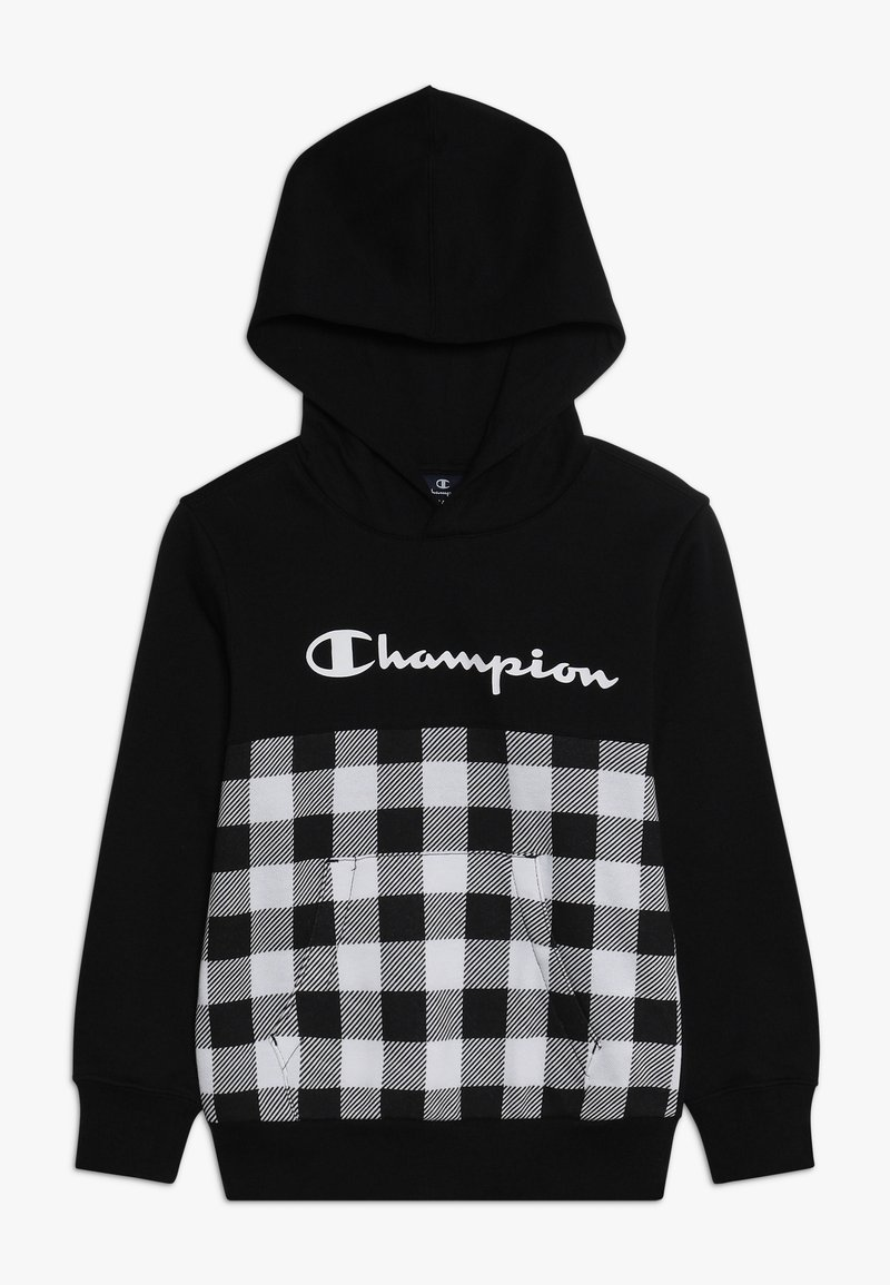Champion - CHAMPION X ZALANDO HOODED - Hoodie - new black/wihte