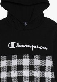 Champion - CHAMPION X ZALANDO HOODED - Luvtröja - new black/wihte - 3