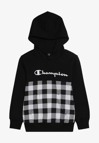 Champion - CHAMPION X ZALANDO HOODED - Luvtröja - new black/wihte - 2