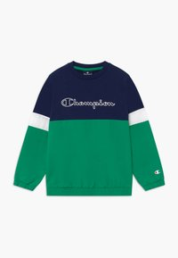 Champion - LEGACY BLOCK  CREWNECK - Mikina - green/blue - 0