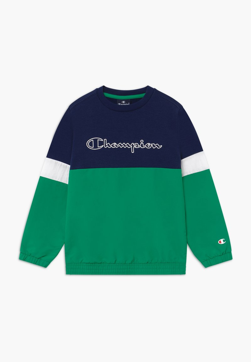 Champion - LEGACY BLOCK  CREWNECK - Mikina - green/blue