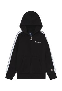 Champion - LEGACY AMERICAN TAPE HOODED FULL ZIP - veste en sweat zippée - black - 0