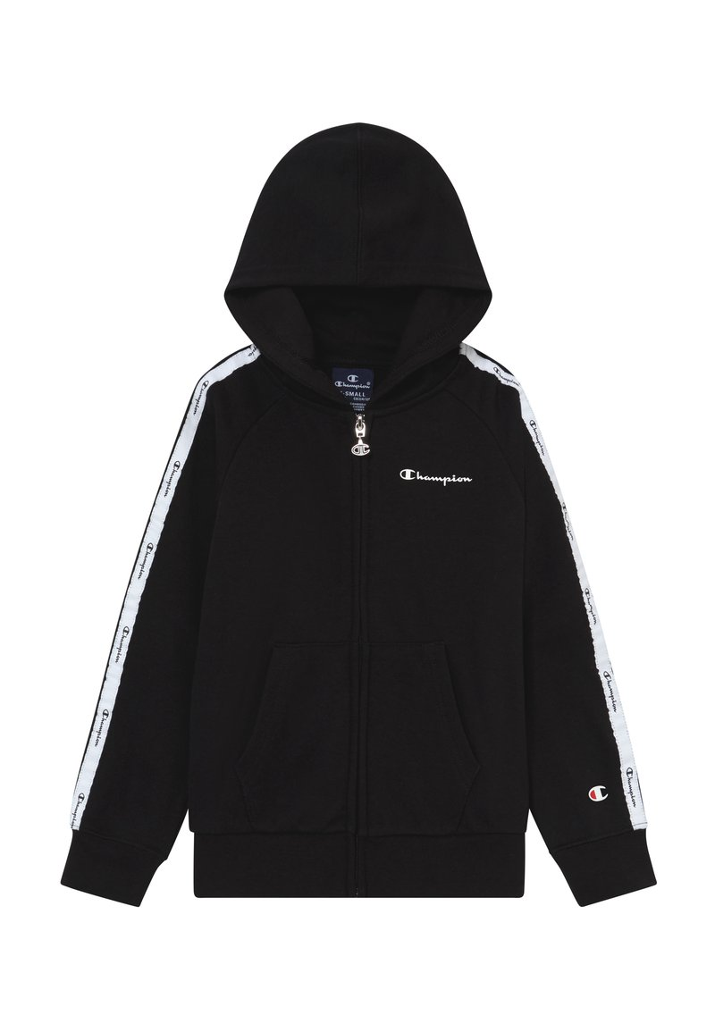 Champion - LEGACY AMERICAN TAPE HOODED FULL ZIP - Sweatjacke - black