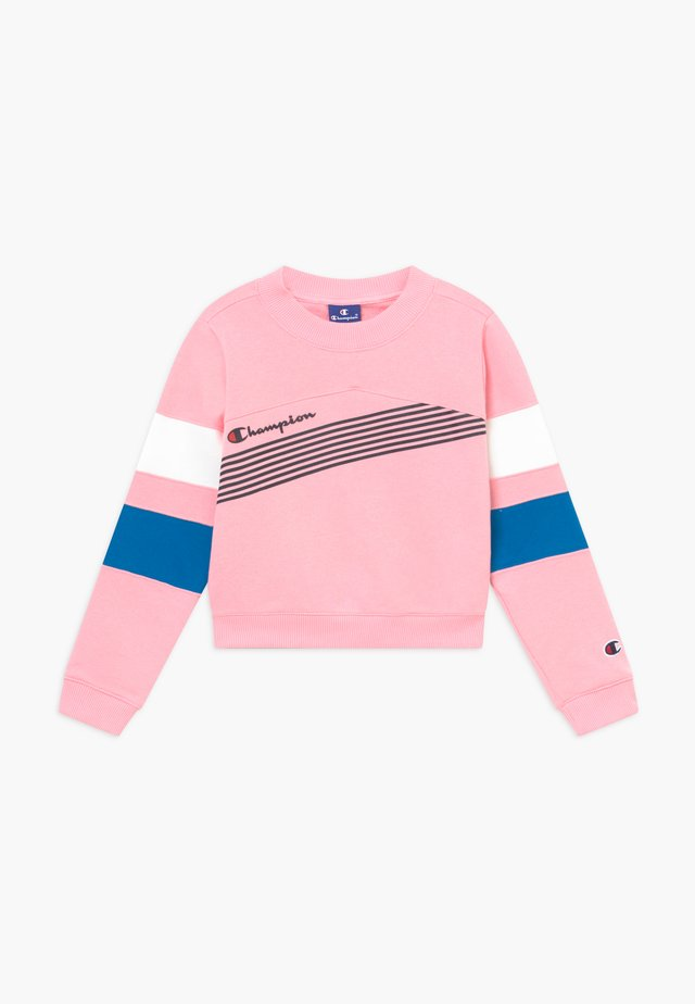 ROCHESTER BRAND MANIFESTO CREWNECK - Sweatshirt - light pink/royal blue