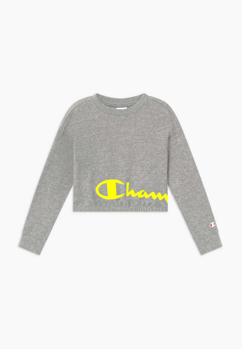 Champion - LEGACY LIGHT UP LOGO CREWNECK - Mikina - mottled grey