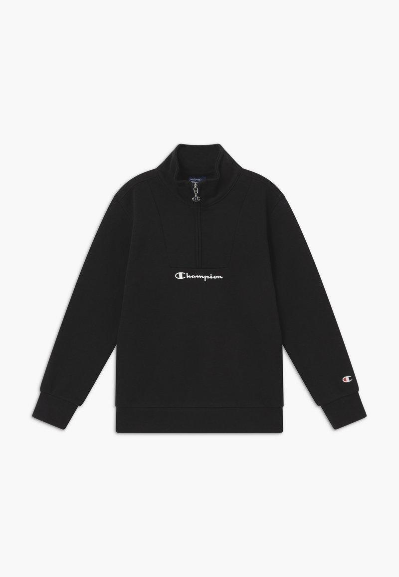 Champion - LEGACY AMERICAN CLASSICS HALF ZIP - Sweatshirt - black