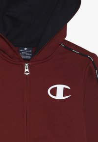 Champion - HOODED FULL ZIP SUIT - Trainingspak - bordeaux/dark blue - 5
