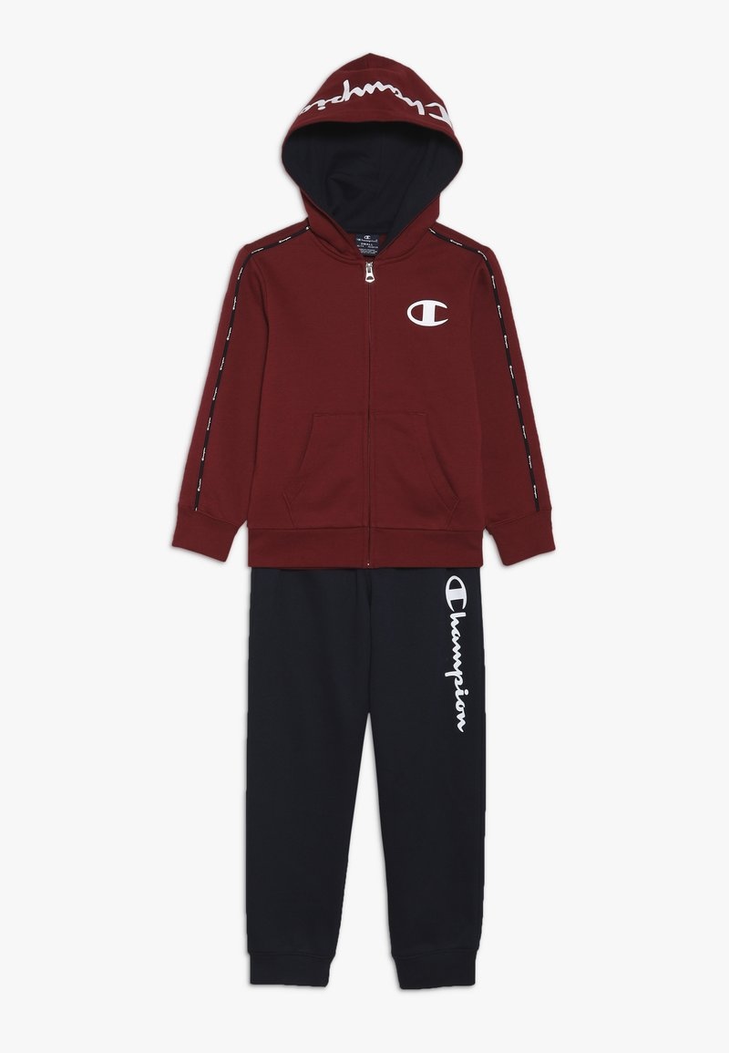 Champion - HOODED FULL ZIP SUIT - Trainingspak - bordeaux/dark blue