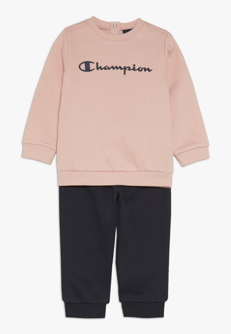 Champion - TODDLER CREWNECK - Treningsdress - pink/dark blue
